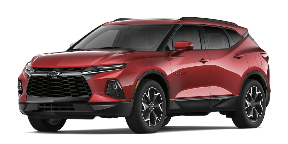 Chevrolet Blazer 2020, SUV mediana en color rojo escarlata